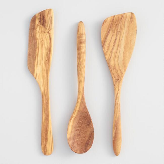 Olivewood 3 Piece Utensil Set
