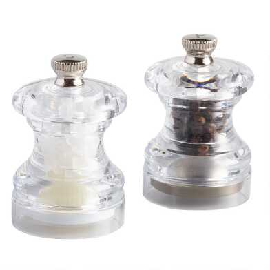 Cole and Mason Mini Prefilled Salt and Pepper Grinder Set