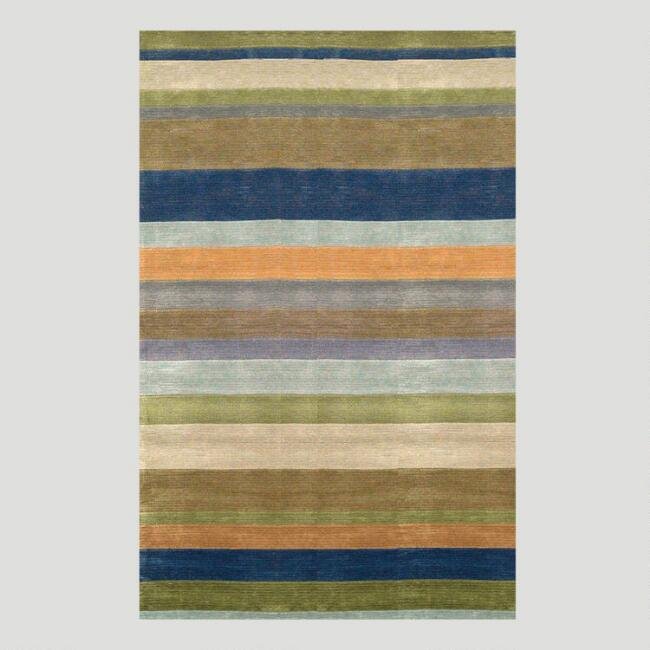 Striped Tufted Rug, Ocean