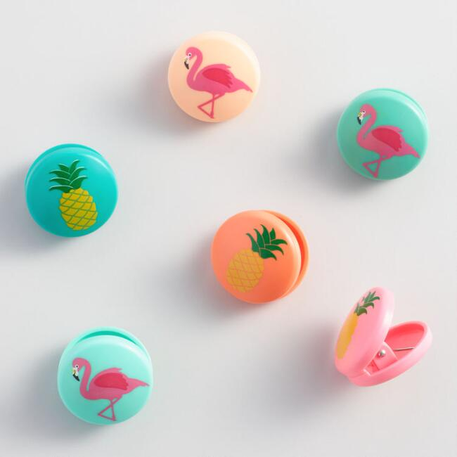 Kikkerland Tropical Bag Clips 6 Pack