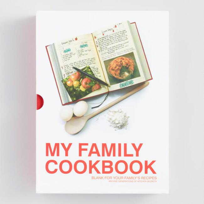 my family cookbook custom recipe notebook world market