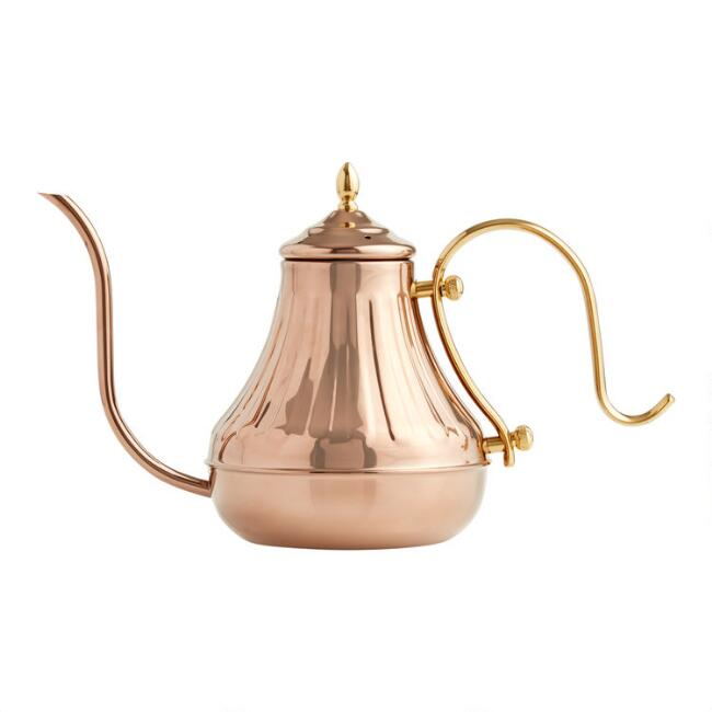 Copper Gooseneck Spout Kettle