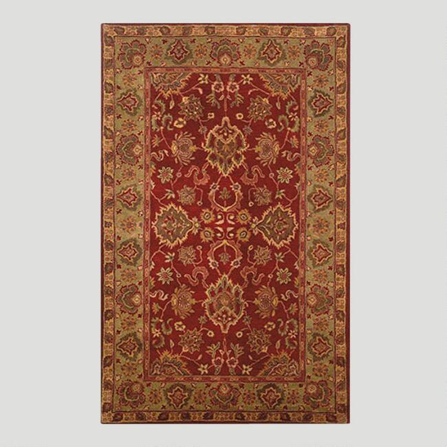 Red Agra Wool Rug
