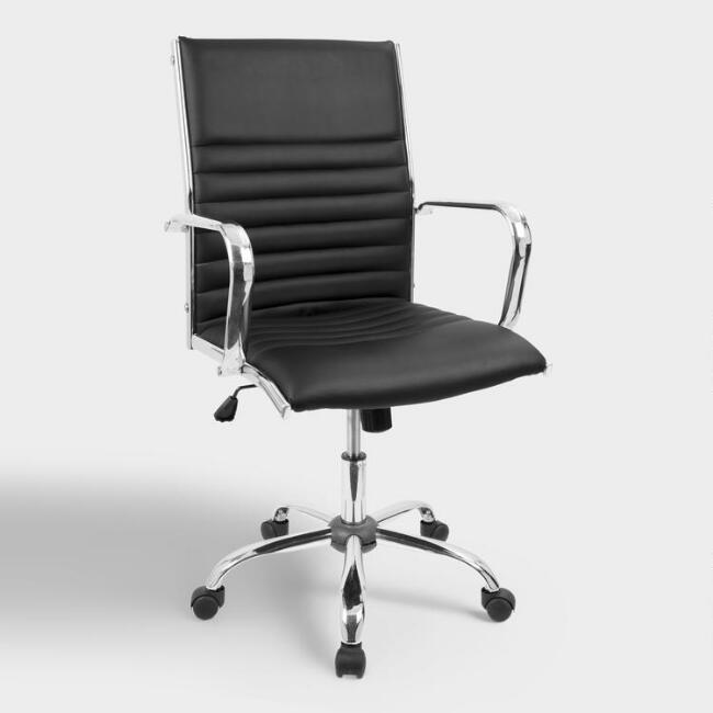 Black Channel Back Office Chair