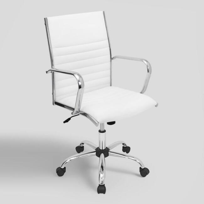 White Channel Back Office Chair