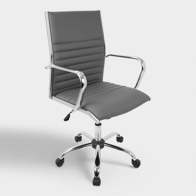Gray Channel Back Office Chair