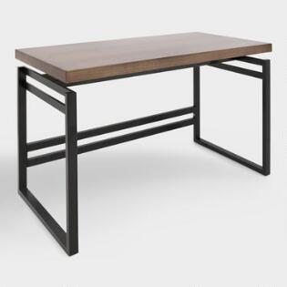 Wood And Black Metal Kylie Desk