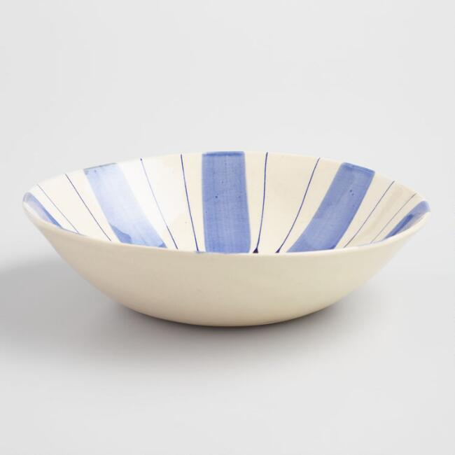 Wonki Ware Small Blue Studio Salad Bowl