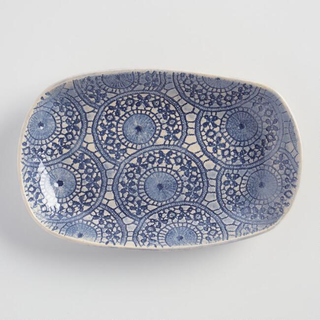 Wonki Ware Medium Blue Ferris Snack Plate