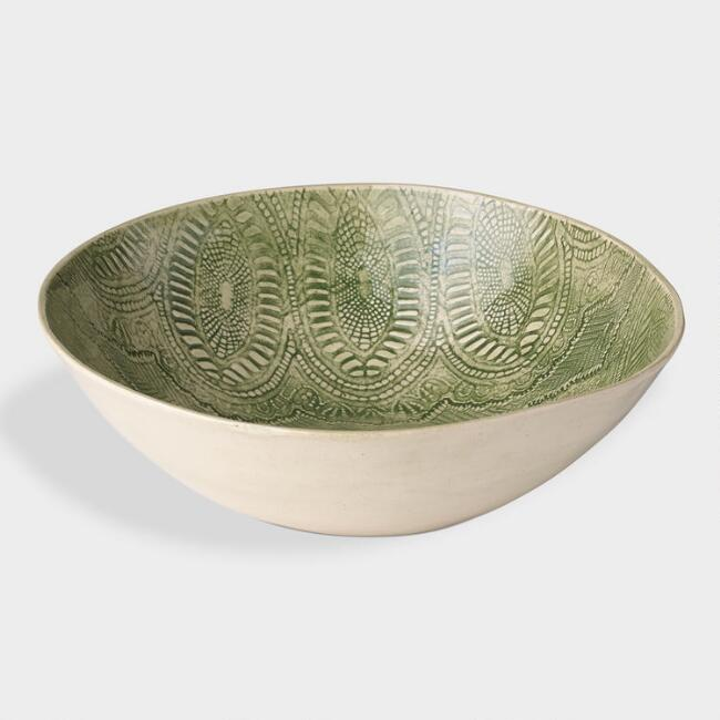 Wonki Ware Medium Green Salad Bowl