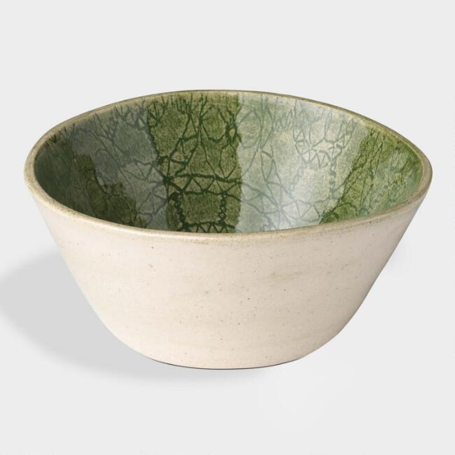 Wonki Ware Green Wheel Ramekin