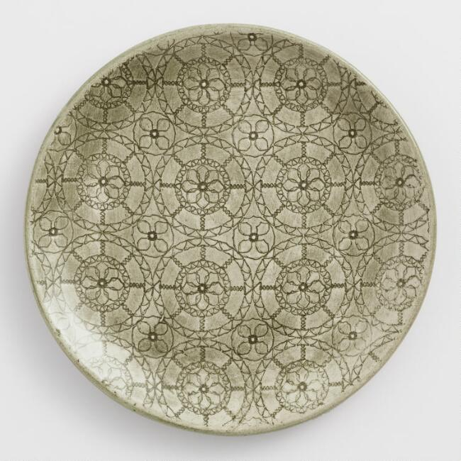 Wonki Ware Green Wheel Accent Plate