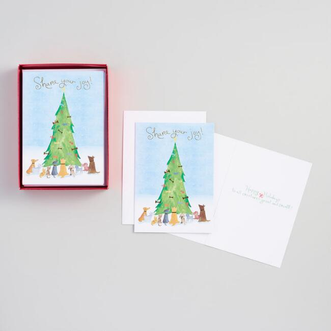 Share Your Joy Boxed Holiday Cards Set of 15