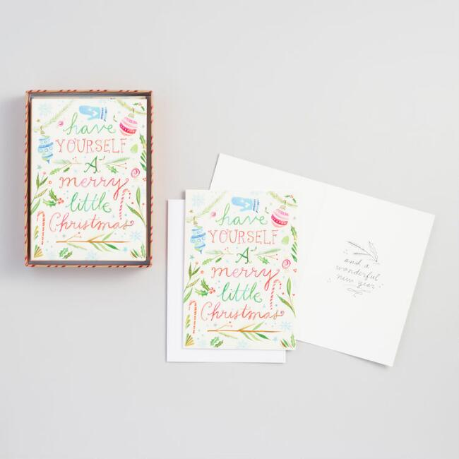 Have Yourself a Merry Christmas Boxed Cards Set of 15