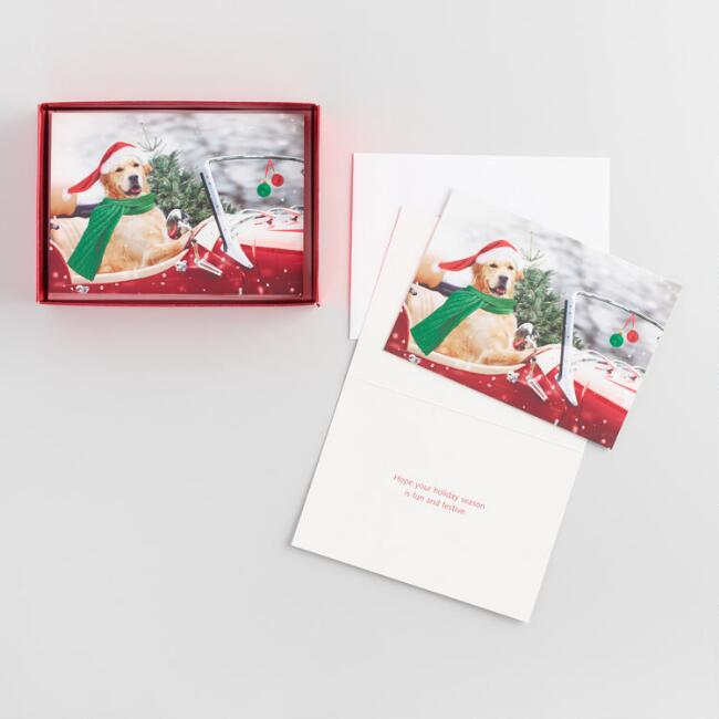 Dog in Car Boxed Holiday Cards Set of 15
