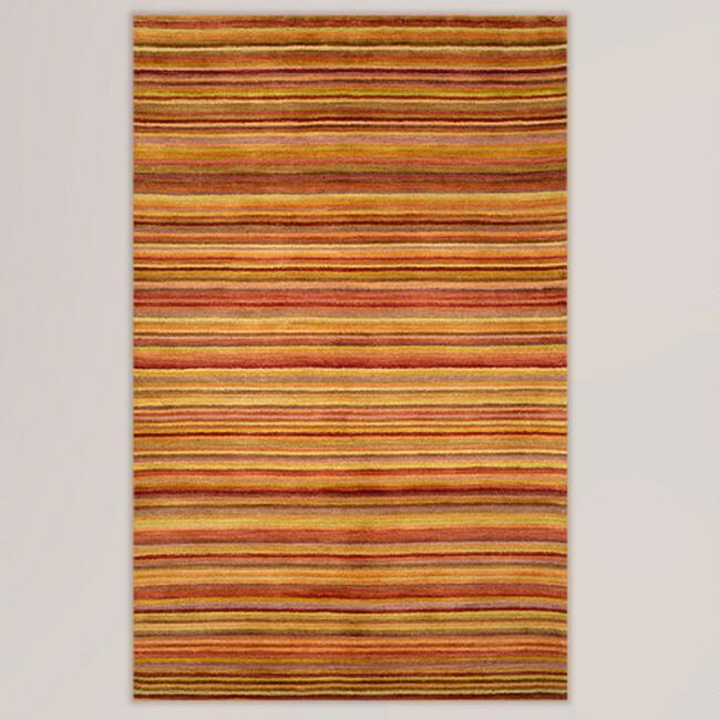 Sunset Striped Tufted Wool Rug