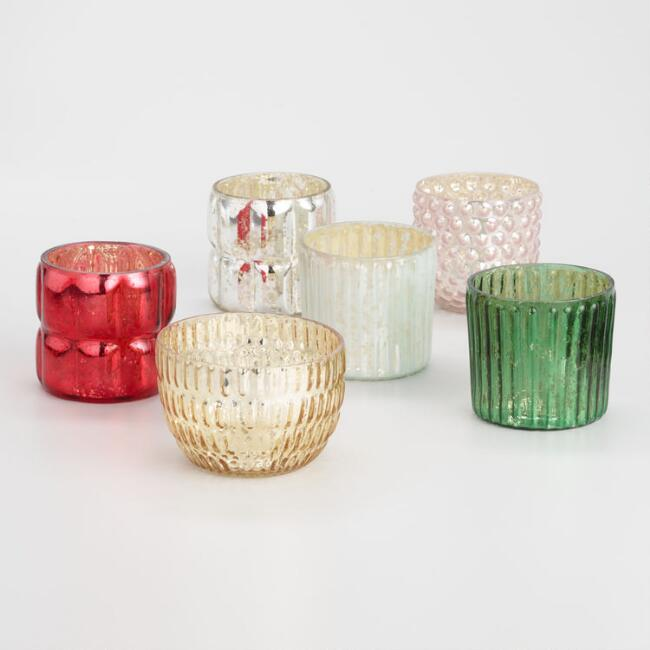 Mercury Glass Votive Candleholder Collection