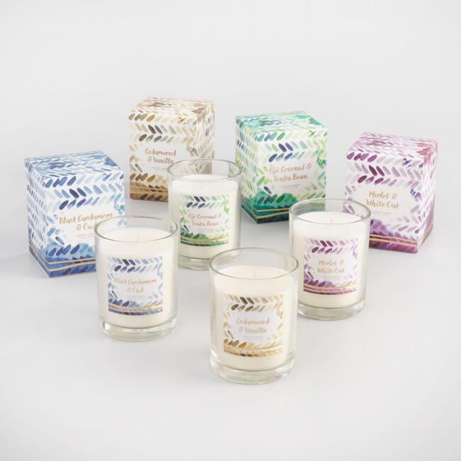 Watercolor Filled Jar Candle Collection