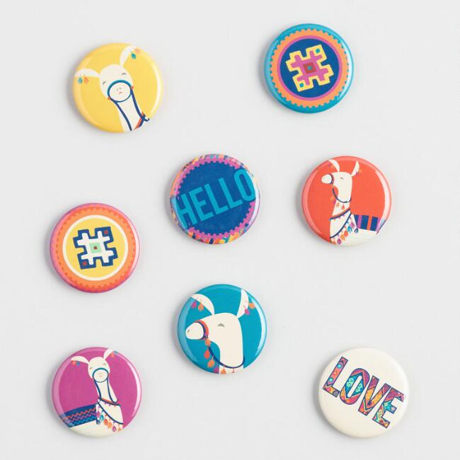Llama Magnets Set of 8