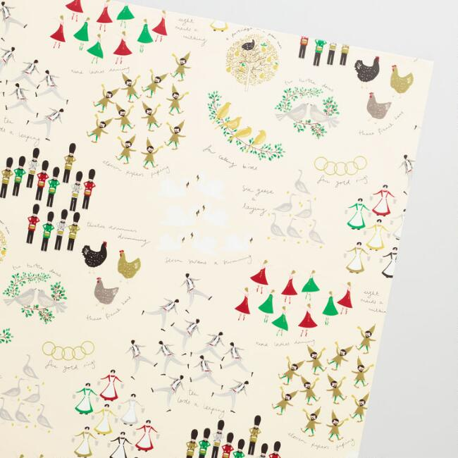 jumbo twelve days of christmas wrapping paper roll - How Many Days Of Christmas