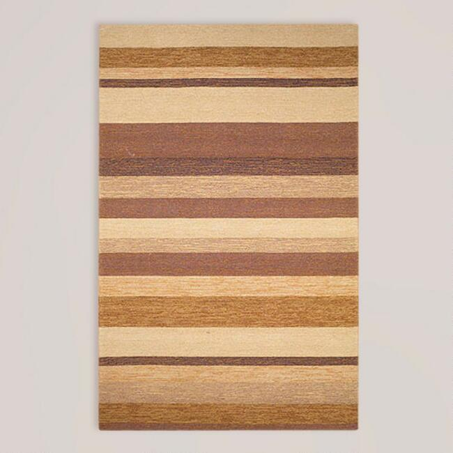 Sand Striped Indoor-Outdoor Rug