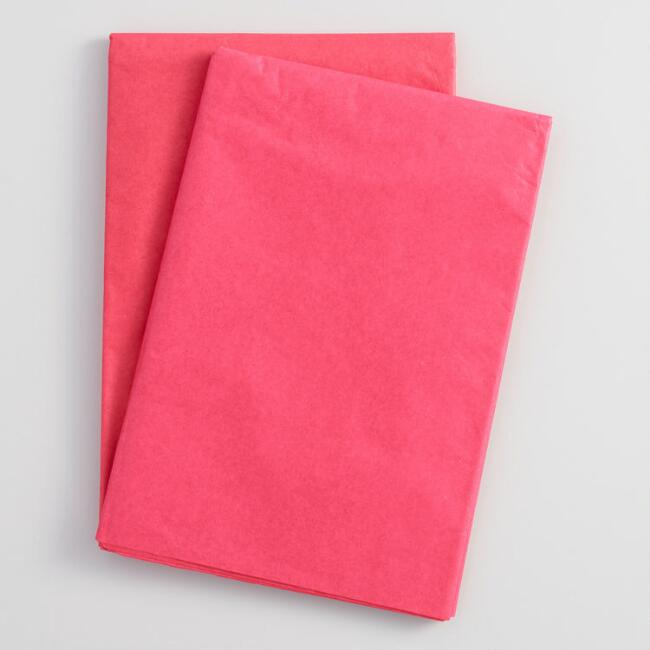 Solid Red Tissue Paper Set of 2