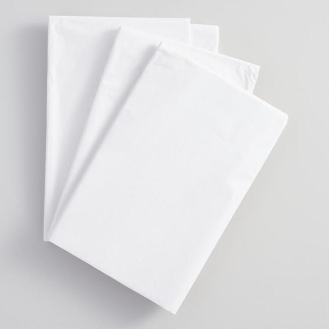 Solid White Tissue Paper Set of 2