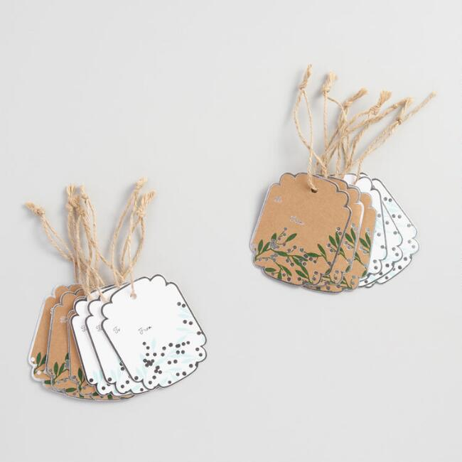 Holiday Berries Kraft Gift Tags Set of 2
