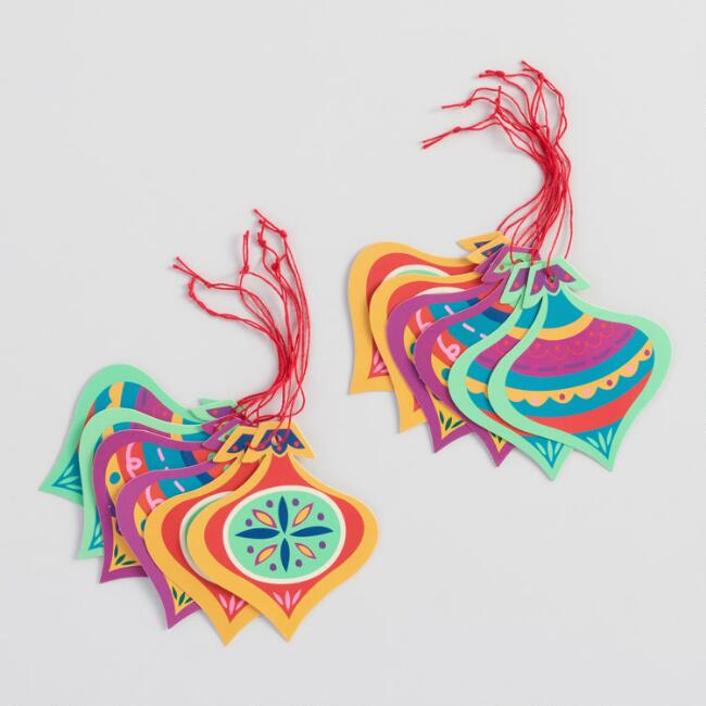 Folkloric Ornaments Gift Tags Set of 2