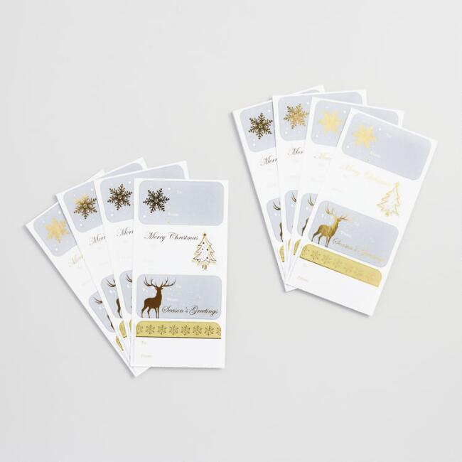 Silver Gift Labels Set of 2