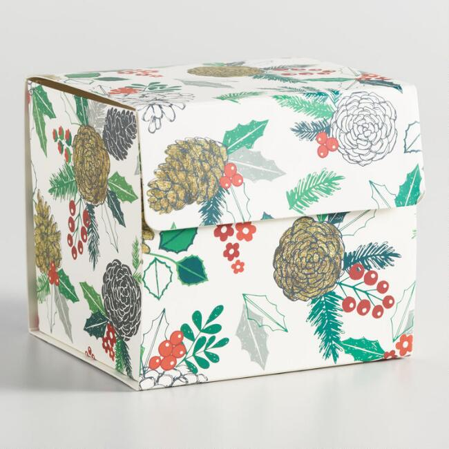 Pine Cone Collapsible Gift Box
