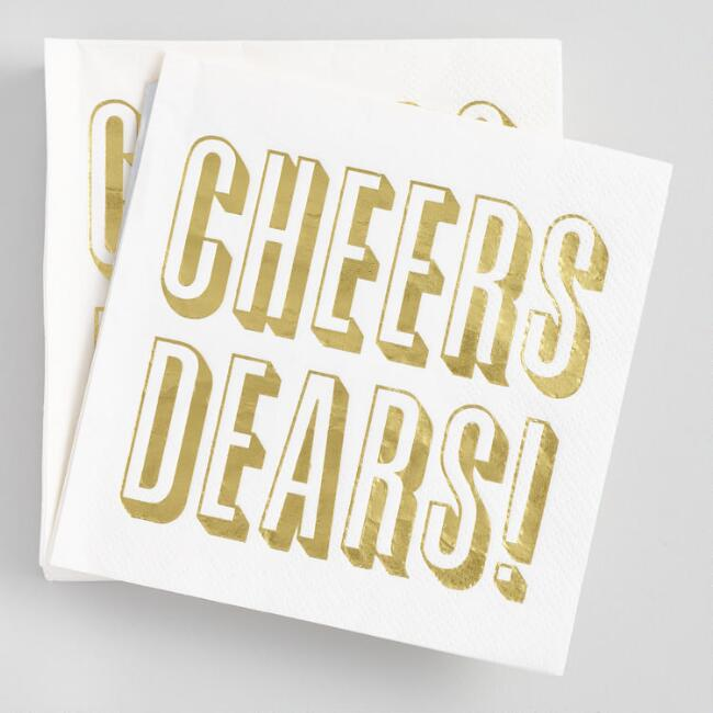 Cheers Dears Beverage Napkins 20 Count