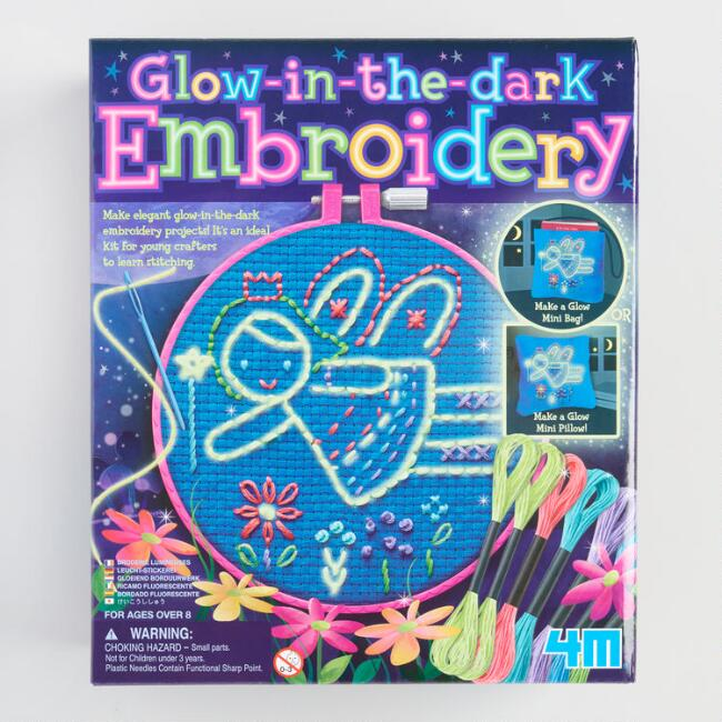 4M Glow in the Dark Embroidery Kit