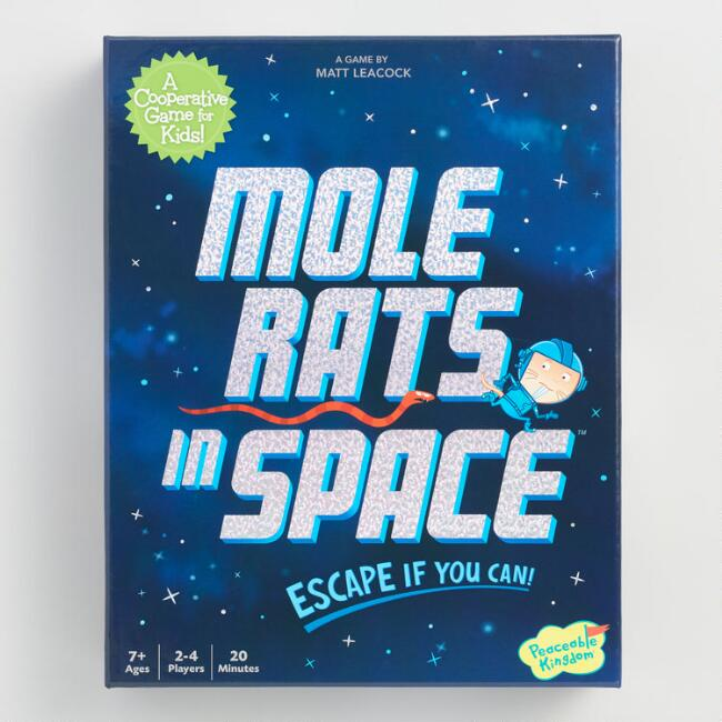 Peaceable Kingdom Mole Rats in Space Game