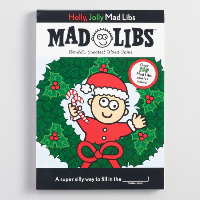 Holly Jolly Mad Libs Word Game Book