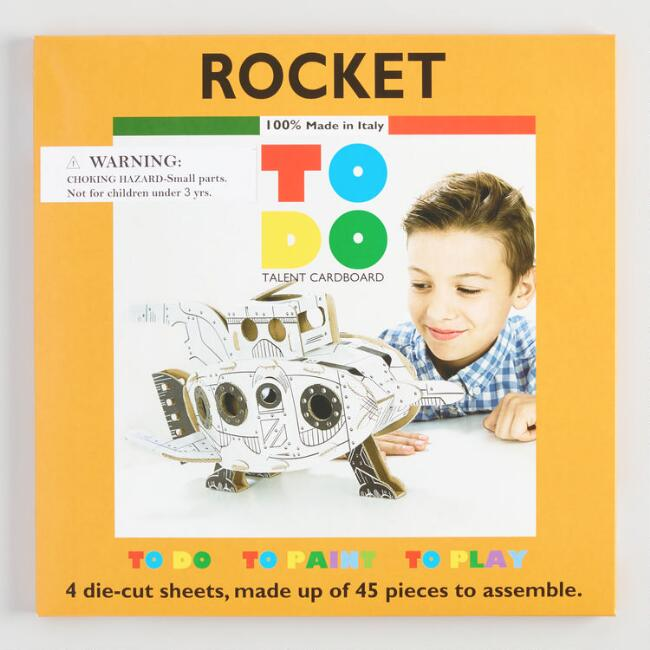 Rocket Spacecraft Cardboard Construction Kit