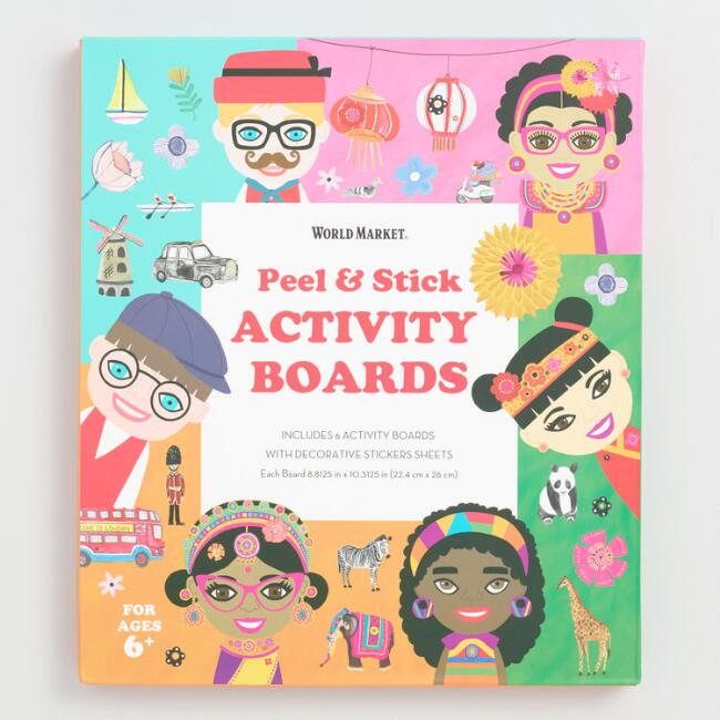 International Faces Peel and Stick Activity Boards