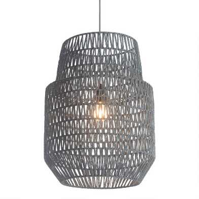 Gray Two Tier Daydream Pendant Lamp
