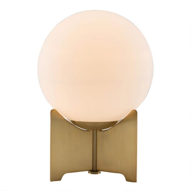Frosted Glass Pearl Mid Century Table Lamp