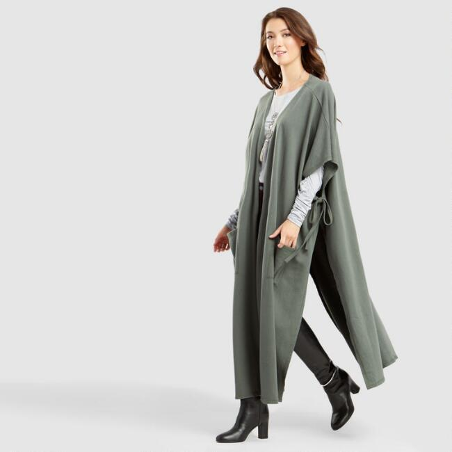 Dark Olive Fleece Maya Wrap