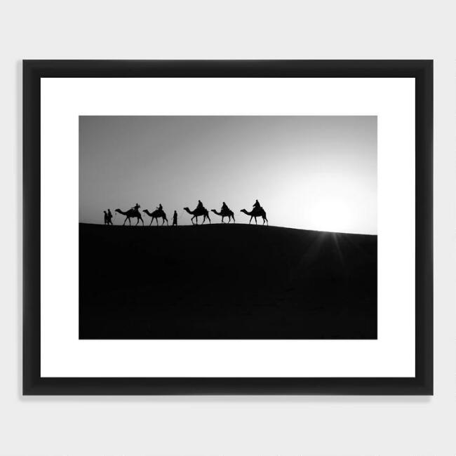 Camels in the Sand Wall Art