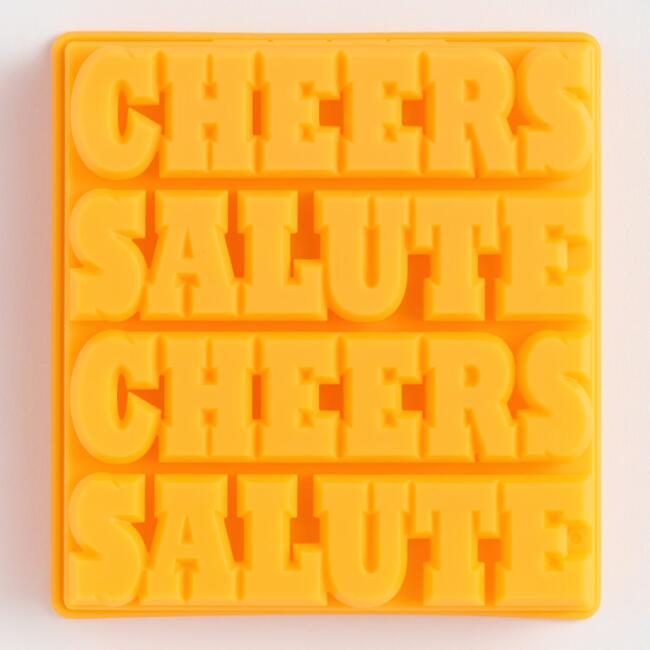 Cheers Salute Silicone Ice Mold