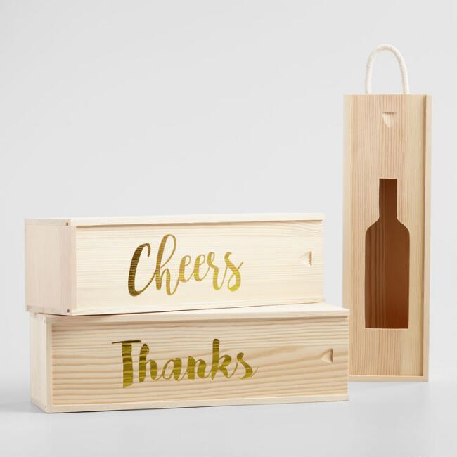 Wooden Wine Boxes Set of 3