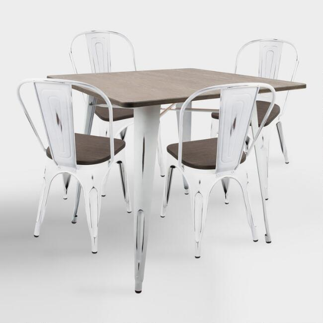 Square White and Espresso Ridgeby Dining Collection