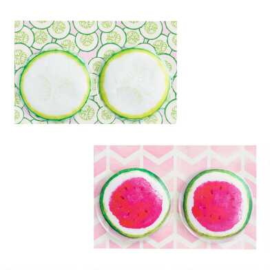 Cucumber and Watermelon Gel Eye Mask Set of 2