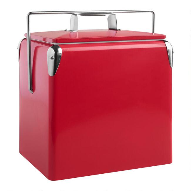 Red Retro Drink Cooler