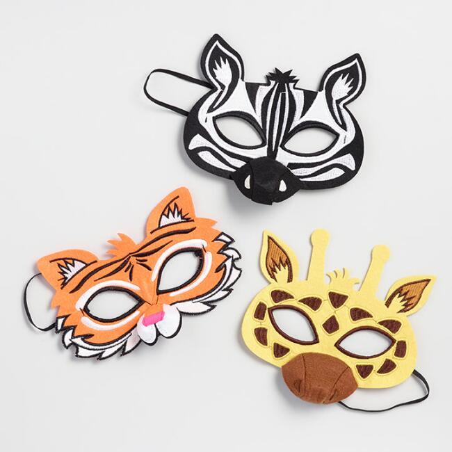 Safari Animal Felt Masks