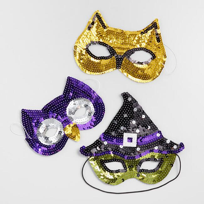 Sequined Halloween Masks