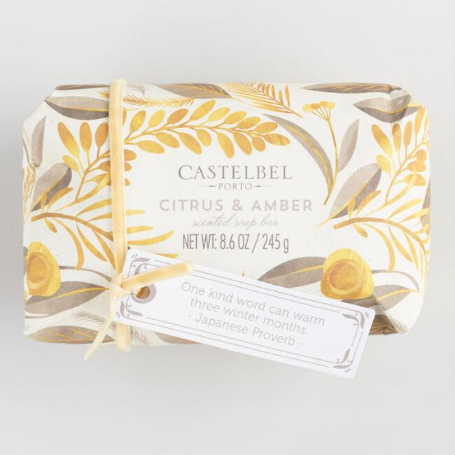 Castelbel Watercolor Citrus and Amber Bar Soap