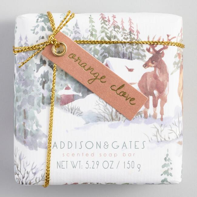A&G Snowfall Orange Clove Bar Soap Set of 2